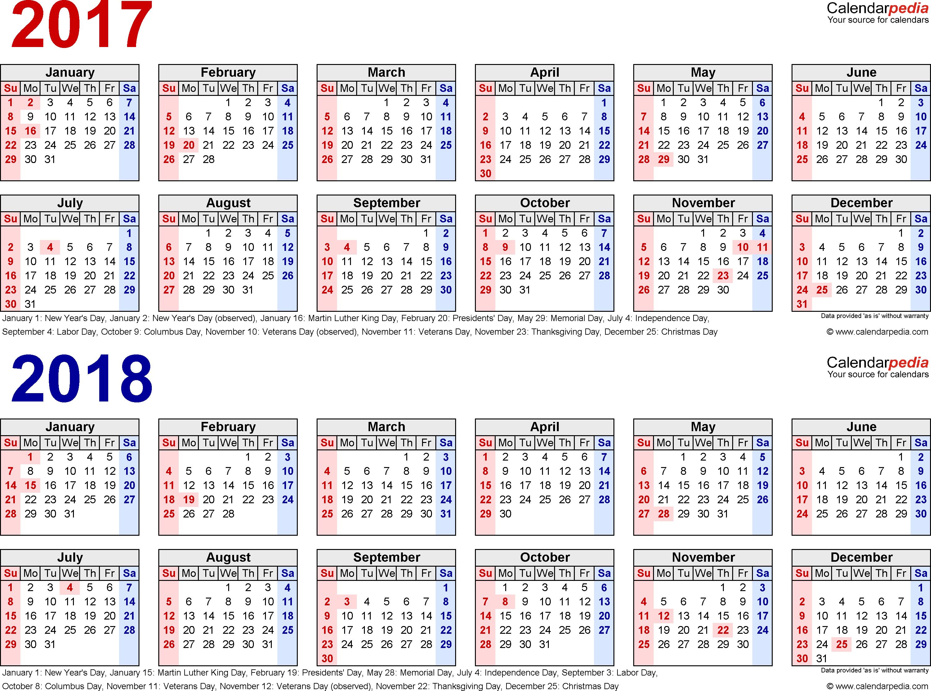 календарь на 2017 год