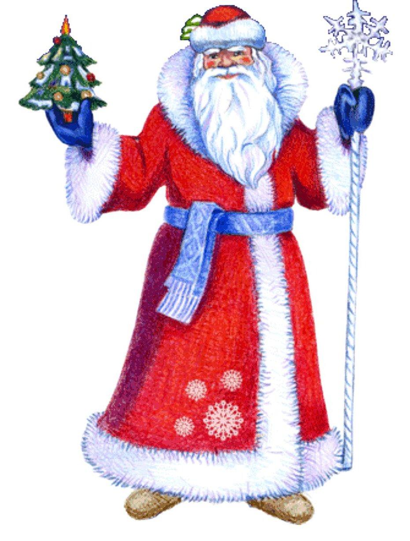 Дед мороз нарисованный