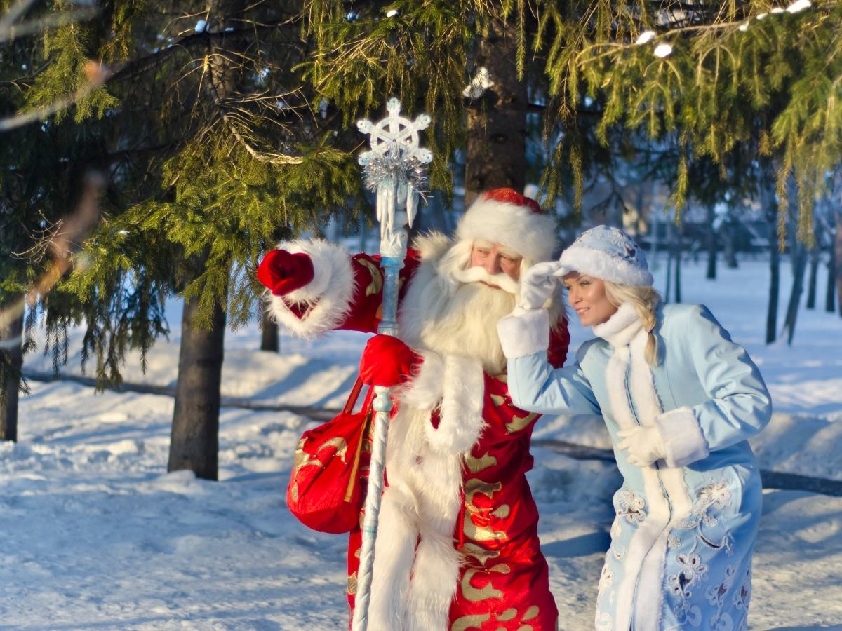 Дед Мороз и Снегурочка: фото