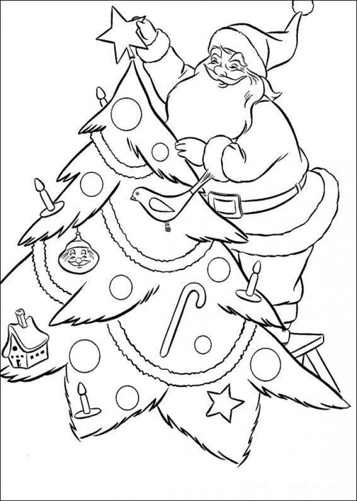 Раскраски на Новый год 2017 для малышей
