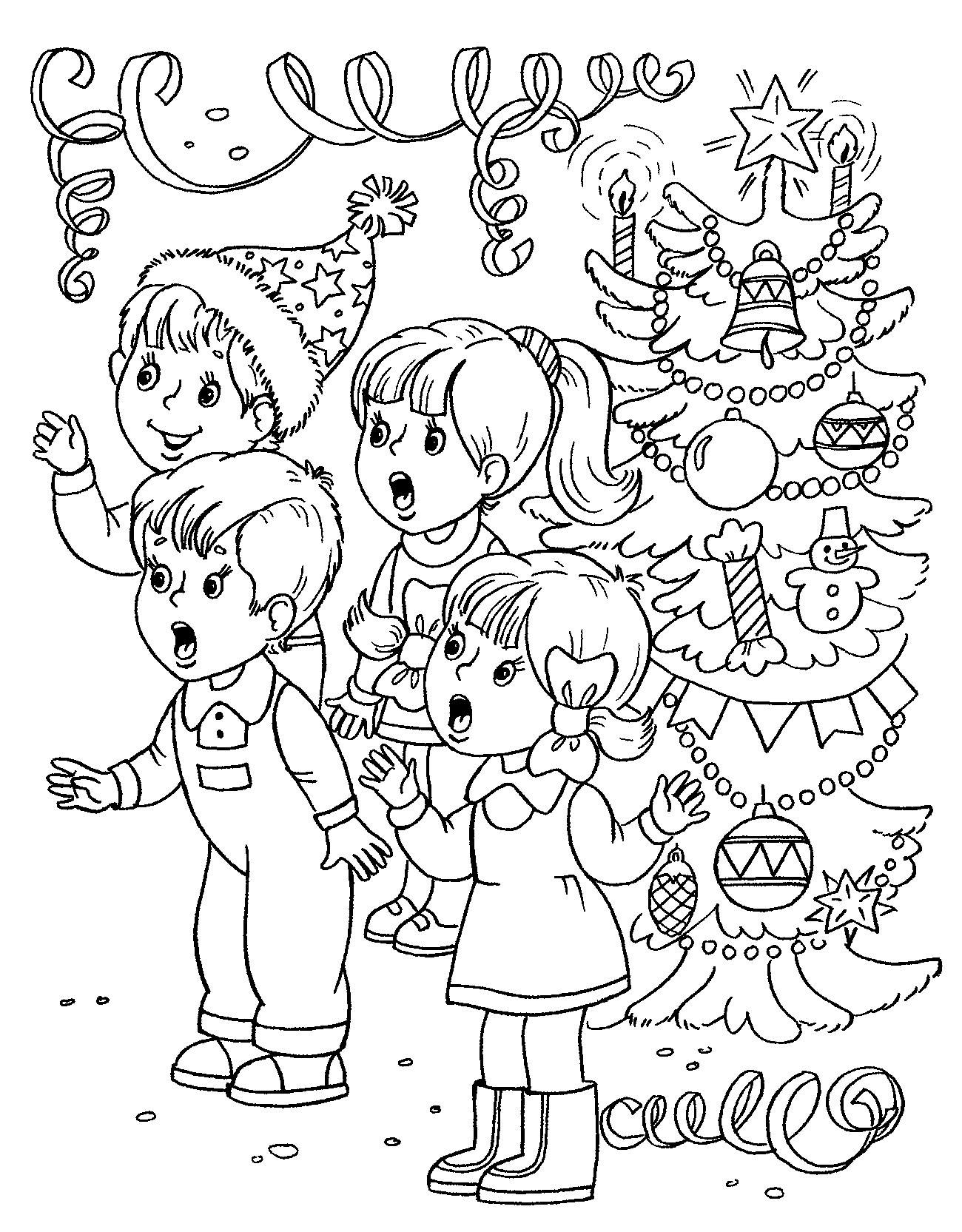 Новогодние раскраски для детей 2017