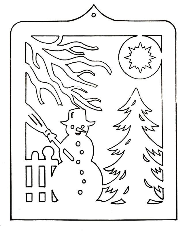 Вытынанка своими руками схемы новогодние