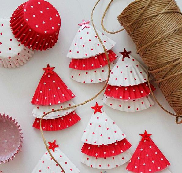 Новогодние поделки для детей: Елка из бумаги Поделки
