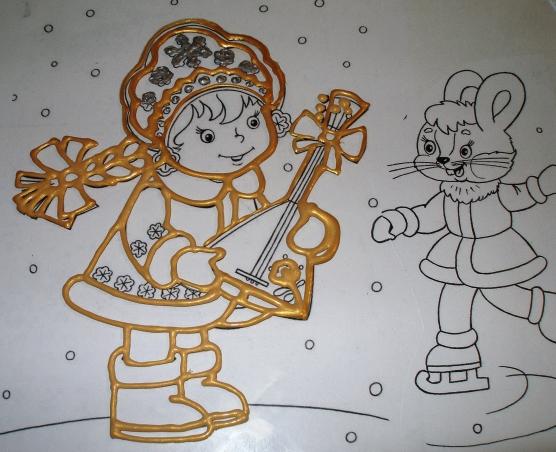 Рисунок карандашом на Новый год 2017