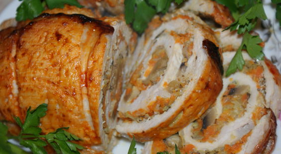 Рецепт пошагово: Рулет из свинины