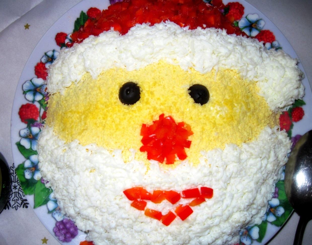 "салат ""Дед Мороз"" на Новый год 2017"