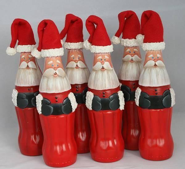 Санта Клаус из пластиковых бутылок на Новый год 2018.