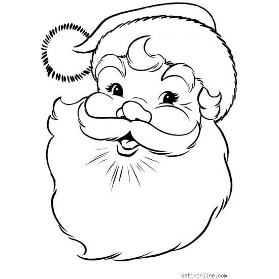 Дед Мороз для срисовки.